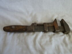 Rare Antique Tools Adjustable Monkey Wrench Wb 1880 Vintage Railroad Tool