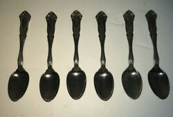 Lot Of 6 Vintage R. Wallace A1 1835 Cardinal 4 1/4 Demitasse Spoons