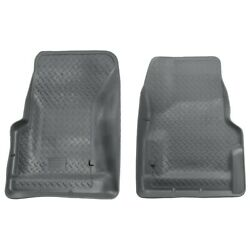 31732 Husky Liners Floor Mats Front New Gray For Jeep Wrangler 1997-2006