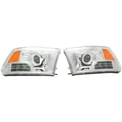 111160 Anzo Headlight Lamp Driver And Passenger Side New For Ram Truck Lh Rh 1500