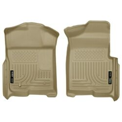 18333 Husky Liners Floor Mats Front New Tan For F150 Truck Ford F-150 2009-2014