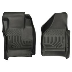 18381 Husky Liners Floor Mats Front New Black For F250 Truck F350 F450 Ford
