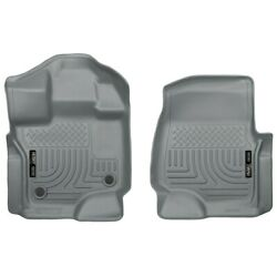 18362 Husky Liners Floor Mats Front New Gray For F150 Truck Ford F-150 2015-2018