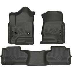 98241 Husky Liners Floor Mats Front New Black For Chevy Chevrolet Silverado 1500