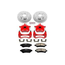 Kc1542 Powerstop Brake Disc And Caliper Kits 2-wheel Set Front For Chevy Olds