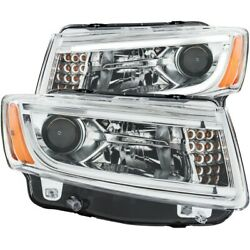 111328 Anzo Headlight Lamp Driver And Passenger Side New Lh Rh For Grand Cherokee