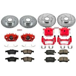 Kc1434 Powerstop Brake Disc And Caliper Kits 4-wheel Set Front And Rear For Sky