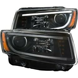 111329 Anzo Headlight Lamp Driver And Passenger Side New Lh Rh For Grand Cherokee
