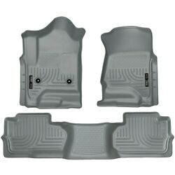 98242 Husky Liners Floor Mats Front New Gray For Chevy Chevrolet Silverado 1500
