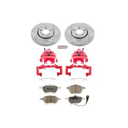 Kc898-26 Powerstop Brake Disc And Caliper Kits 2-wheel Set Front For Vw Beetle