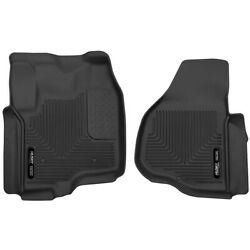 53321 Husky Liners Floor Mats Front New Black For F250 Truck F350 F450 Ford