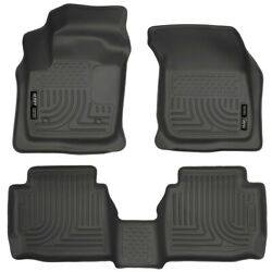 99751 Husky Liners Floor Mats Front New Black Sedan For Ford Fusion Lincoln Mkz