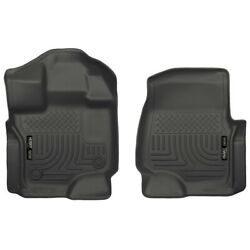 18361 Husky Liners Floor Mats Front New Black For F150 Truck Ford F-150 15-18