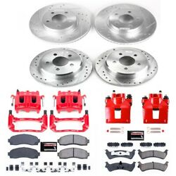 Kc4357 Powerstop Brake Disc And Caliper Kits 4-wheel Set Front And Rear For Ford