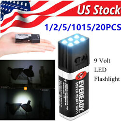 1-20 Blocklite 9 Volt Led Flashlight Torch Camping Lamp Compact Size Ultrabright