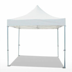10 X 10and039 Pop Up Canopy White Adjustable Height Water Resistant Commercial Canopy