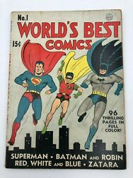 Worlds Best Comics First Number #1 Issue 1941 DC Comic Book 1st App Scarecrow
