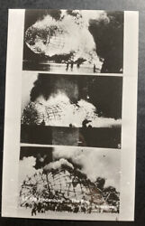 Mint Usa Real Picture Postcard Rppc Hindenburg Zeppelin Lz 127 The Disaster