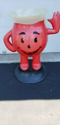 Vintage Style 1950s Store Display Kool-aid Man Standing 3 Foot Tall Red Pitcher