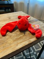 Ty Beanie Baby Pinchers The Lobster 1993 Style 4026 Mint Tags Retired W/ Errors