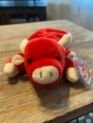 Snort The Bull 4002 Ty Beanie Baby Mwmts Mint Condition
