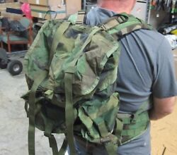 Modified And Re Purposed Complete Usgi Woodland Medium Alice Pack Lc-1 W/molle