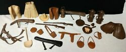 1960and039s Marx Toys Best Of The West Johnny West Over 25 Accessories..gunsetc.