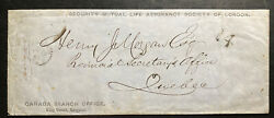 1865 Kingston Canada Advertising Cover To Mutual Life Assurance Quebec