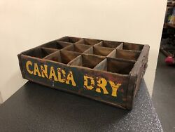 Antique G.b. Seely's Son 12 Bottle Wood Crate Carrier Case Canada Dry