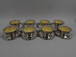 Gorham Holders And Lenox Bowls - A7423 1201/r10d - Sterling Silver And Porcelain