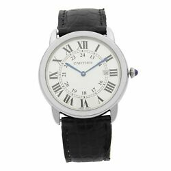 Ronde Solo Stainless Steel Silver Dial Date Quartz Unisex Watch W6700255