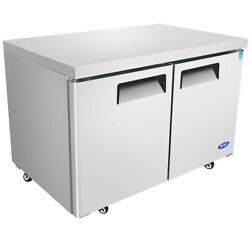 New 2 Door 36 Undercounter Refrigerator Stainless Steel Atosa Mgf36rgr 4660