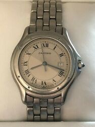 Cougar Stainless Steel Large Mens Watch