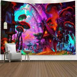 Trippy Forest Tapestry Psychedelic Wall Hanging Bedspread Home Decor Tapestries