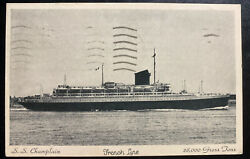 1938 Paris France Real Picture Postcard Cover To Usa Ss Berengaria