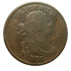 Half Cent/penny 1808/7 Overdate Fn Choice