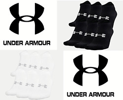 Under Armour UA Training Cotton No Show Ankle Socks - 6 PACK -FREE SHIP- 1346786 $13.99