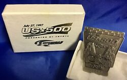 Indianapolis Indy 500 Cart 1997 Us 500 Silver Pit Badge New In Box Very Rare