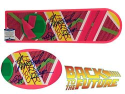 Christopher Lloyd Michael J Fox Autograph Back To The Future Hoverboard Beckett