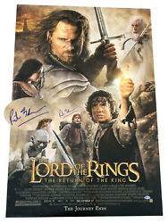 Peter Jackson Signed Auto Lord Of The Rings Fs Original Movie Poster Bas Coa