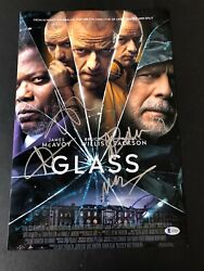 Glass Bruce Willis Signed 12x18 Photo Authentic Auto James Mcavoy +3 Beckett