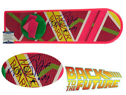 Michael J Fox Signed Auto Back To The Future 2 Hoverboard Bas Beckett Coa Marty