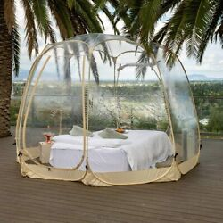 Pop Up Portable Bubble Tent Weather Pod Camping Gazebos Patios Greenhouse 12x12and039