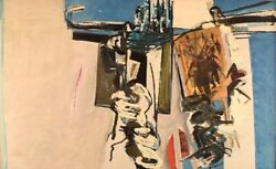 Bengt Winberg B. 1932, 1994, Swedish Artist. Oil And Collage On Canvas. 1965