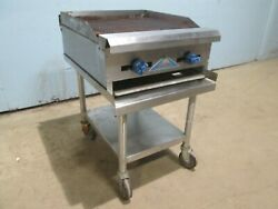 Castle Crb-24 Heavy Duty Commercial Nsf 24w Natural Gas Charbroiler W/stand
