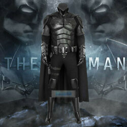 The Batman 2021 Bruce Wayne Cosplay Costume Menand039s Halloween Outfit Cool Suit Set