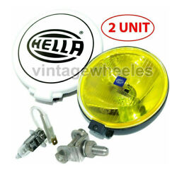 Hella Comet 500 Driving Lamp Yellow Spot Light With Cover Universal Fit Jeep 4x4