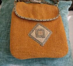 Eco Friendly GREEN JUTE Crossbody 10quot; x 9quot; $5.99
