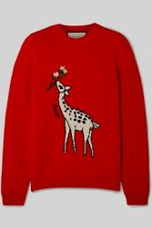 Fine Wool Fawn Red Crew Neck Pullover Sweater Size L