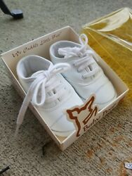 Baby Deer Infant Size 2 White Waddle Shoes crib shoes $15.00